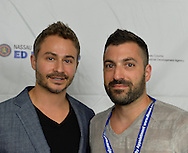 Bellmore, New York, United States. July 10, 2015. L-R, JORDAN HOROWITZ and FRANK FERENDO, Co-Directors and Producers of the documentary ANGEL OF NANJING, attend the Official Opening Night Reception of LIIFE, Long Island International Film Expo. The film is about Chen Si who has saved over 300 people from commiting suicide at the Yangtze River Bridge in Nanjing, the most popular place in the world to commit suicide. LIIFE events, including screenings nextdoor at Bellmore Movies, panels, and ceremonies, span from July 8 through July 16.