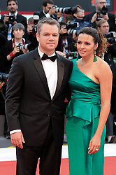 Suburbicon premiere at the 74th Venice Film Festival. 02 Sep 2017 Pictured: VENICE, ITALY - SEPTEMBER 02: Matt Damon and Luciana Damon walk the red carpet ahead of the 'Suburbicon' screening during the 74th Venice Film Festival at Sala Grande on September 2, 2017 in Venice, Italy. Photo credit: MEGA TheMegaAgency.com +1 888 505 6342