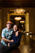 Lost Solace director <br /> Chris Scheuerman and actor Charlie Kerr pose for a portrait at The Westin San Jose in San Jose, California, on March 3, 2016. (Stan Olszewski/SOSKIphoto)