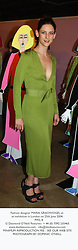 Fashion designer MARIA GRACHVOGEL at an exhibition in London on 25th June 2004.<br /> PWL 8