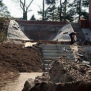 Woning Peter R. de Vries Doodweg 6 Hilversum, bouw waterval ext.