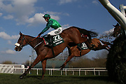 Uncello Conti and Daryl Jacob (22) lead the field over Canal Turn in the first circuit of The Randox Health Grand National on Grand National Day at at Aintree, Liverpool, United Kingdom on 14 April 2018. Picture by Craig Galloway.
