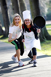 Repro Free: 19/02/2013 .Actress and mum Vivienne Connolly is pictured with Masterchef's Nicha Maguire as they team up to launch the 'Flora Cookbook' as part of the Women's Mini Marathon 2013. Flora are inviting participants of Flora Women's Mini Marathon to share their favorite family recipes for inclusion in a new Flora Cookbook.   Nicha Maguire and Harriette Lynch will then introduce small changes to the recipes to make them even more nutritious. Registration for this year's event, which attracts 40,000 participants annually, opens on Wednesday, 20 February. Pic Andres Poveda.