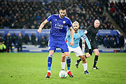 Leicester City midfielder Vicente Iborra (21) during the quarter final of the EFL Cup match between Leicester City and Manchester City at the King Power Stadium, Leicester, England on 18 December 2018.