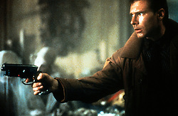 FILM TITLE:  BLADE RUNNER. DIRECTOR:  Ridley Scott.  STUDIO:  WARNER BROS.<br /> PLOT:    In a cyberpunk vision of the future, man has developed the technology to create replicants: human clones with fixed lifespans created to serve in the colonies outside Earth.   In Los Angeles 2019, world-weary, semi-retired cop, Rick Deckard (Ford), is a Blade Runner, a cop who specialises in terminating replicants.  When four android replicants escape from an off-World colony and return to Earth, a reluctant Deckard is called back to duty.   PICTURED:  HARRISON FORD.   (Credit Image: © Courtesy of The Ladd Company/Entertainment Pictures/ZUMAPRESS.com)