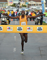 PORT ELIZABETH, SOUTH AFRICA - JULY 30: Edwin Koech of Kenya during the SA Half Marathon Championships on July 30, 2016 in Port Elizabeth, South Africa. (Photo by Roger Sedres/Gallo Images)