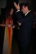 LULU KENNEDY AND RICHARD GREER, Frieze Cartier Dinner. Shoreditch House. London. 11 October 2007. -DO NOT ARCHIVE-© Copyright Photograph by Dafydd Jones. 248 Clapham Rd. London SW9 0PZ. Tel 0207 820 0771. www.dafjones.com.