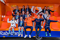 ZOETERMEE  - Bij Hockeyclub Zoetermeer waren de  internationals Jorrit Croon, Justen Blok en Stockey  voor de Pro League on Tour.  Met de rijdende Rabobank tribune .    COPYRIGHT KOEN SUYK