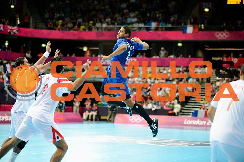 DESCRIZIONE : France Handball Jeux Olympiques Londres GIOCATORE : Narcisse Daniel FRA SQUADRA : France Homme DATA : 2012-08-02CATEGORIA : SPORT : HandBall AUTORE : AGENZIA CIAMILLO & CASTORIA/G.Ciamillo