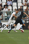 Cristiano Ronaldo (Juventus Turin) and Francesco Aserbi (Lazio Rome) during the Italian championship Serie A match between Juventus Turin and Lazio Roma at Allianz Stadium in Turin, Italy, on August 25, 2018 - Picture by Laurent Lairys / ProSportsImages / DPPI