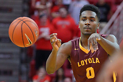 19 February 2017:  Donte Ingram during a College MVC (Missouri Valley conference) mens basketball game between the Loyola Ramblers and Illinois State Redbirds in  Redbird Arena, Normal IL