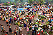 25 APRIL 2010 - PAYANGAN, BALI, INDONESIA: The market in Payangan, Bali. Many Indonesians shop every day because they don't have refrigerators in their homes.  PHOTO BY JACK KURTZ