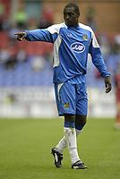 Photo: Aidan Ellis.<br /> Wigan Athletic v Reading. The Barclays Premiership. 26/08/2006.<br /> Wigan's Emile Heskey