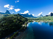 Aerial photo of Cooks Bay, Moorea, Windward Islands, French Polynesia