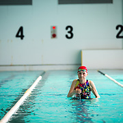 YAMAGUCHI, JAPAN - AUGUST 4: 103-year-old Mieko Nagaoka is seen training in Yanai Swimming School, Yanai City, Yamaguchi prefecture, Japan on August 4, 2017. (Photo: Richard Atrero de Guzman/NUR Photo)