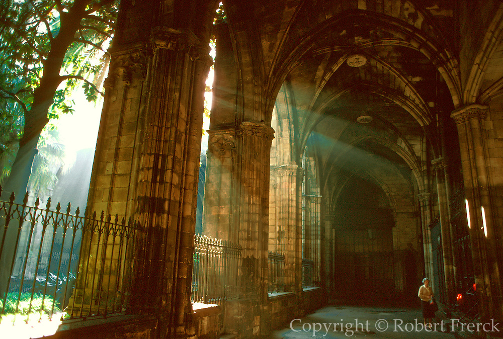 SPAIN, BARCELONA Barri Gotic; Santa Eulalia Cathedral