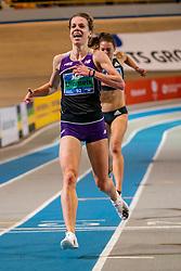 Britt Ummels in action on 3000 meter during the Dutch Indoor Athletics Championship on February 23, 2020 in Omnisport De Voorwaarts, Apeldoorn