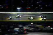 January 27-31, 2016: Daytona 24 hour: Racing action during the Daytona 24. Porsche, BMW, Porsche, Viper