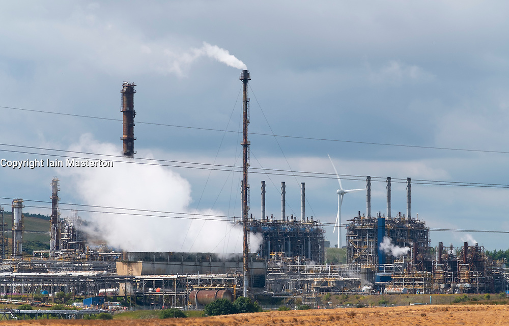 Mossmorran petrochemical plant in Fife, Scotland, UK