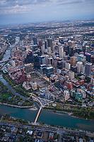 Bow River, Downtown Calgary & Peace Bridge