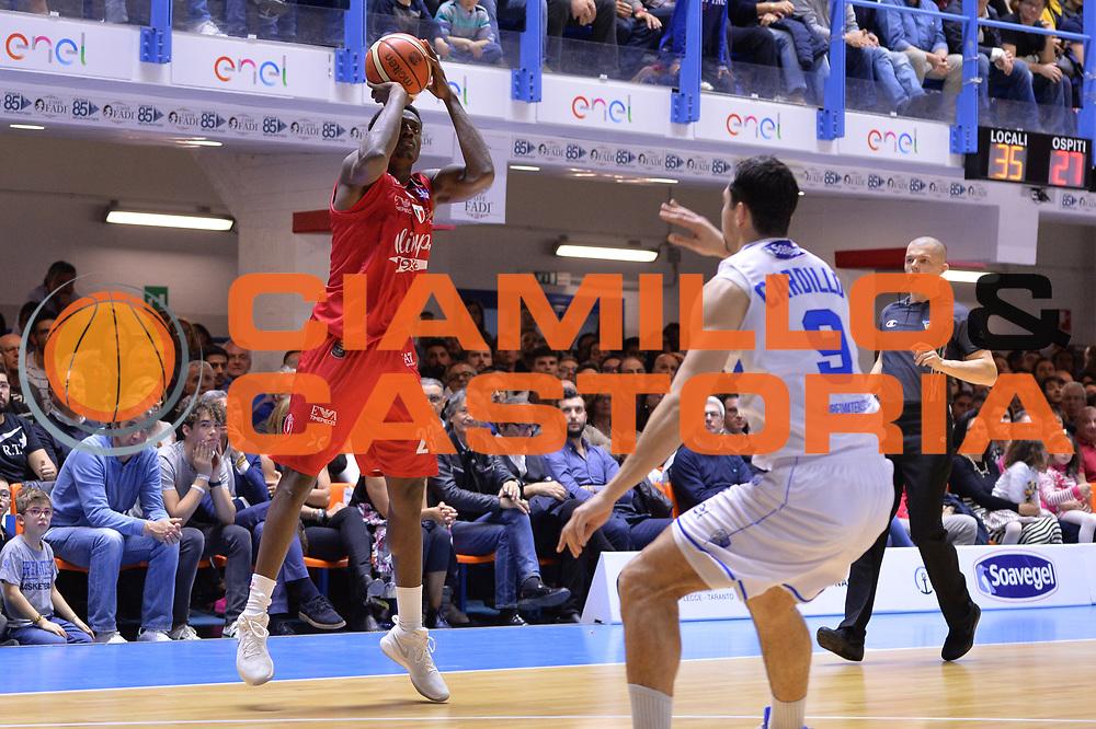 Abass Awudu<br /> Enel Brindisi - EA7 Emporio Armani Milano<br /> BASKET Serie A 2016-2017<br /> Brindisi 15/04/2017<br /> FOTO CIAMILLO / M.Longo