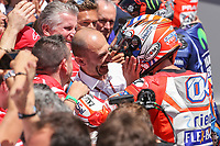 Ducati's Team rider Italian Andrea Dovizioso, winner  the Moto GP Grand Prix at the Mugello race track on June 4, 2017.<br /> Photo by Danilo D'Auria.<br /> Danilo D'Auria/UK Sports Pics Ltd/Alterphotos