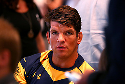 Donnacha O'Callaghan of Worcester Warriors is interviewed at the Aviva Premiership Rugby 2017/18 season launch - Mandatory by-line: Robbie Stephenson/JMP - 24/08/2017 - RUGBY - Twickenham - London, England - Premiership Rugby Launch