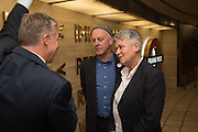 MIKE BROWN; BEN LANGLANDS; NIKKI BELL, Beauty- Immortality, Frank Pick , unveiling of a  new artwork by Langlands & Bell at Piccadilly Circus Station  and the  VIP Reception at London Transport Museum, Covent Garden. 7 November 2016