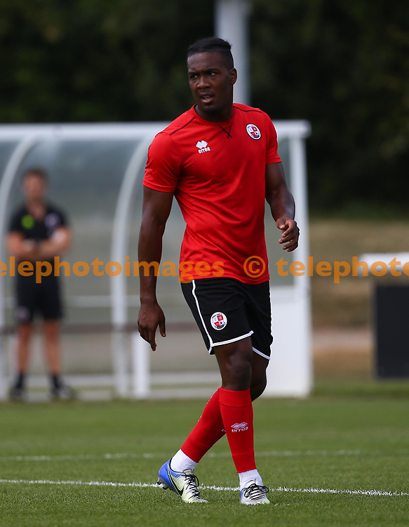 Crawley's Dominic Poleon during the pre season friendly between Fulham and Crawley Town at Motspur Park Training Ground, London, UK. 07 July 2018.
