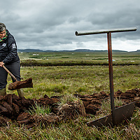The peat bogs being harvested for use at Laphroaig Distillery at Port Ellen, Isle of Islay, Scotland, July 17, 2015. Gary He/DRAMBOX MEDIA LIBRARY