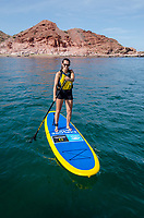 Stand up paddleboard in Puerto Gato on the Gulf of California in Baja California Sur, Mexico.