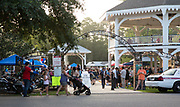 People gather in Abita Springs Park before fireworks on July 2, 2017