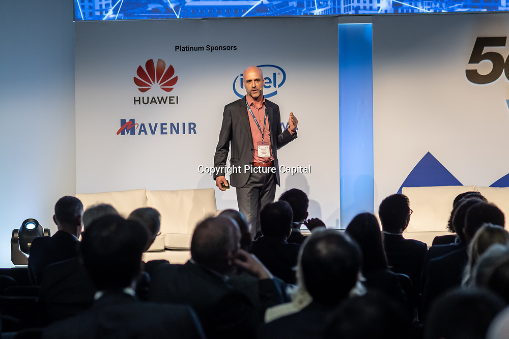 Speaker Andrea Dona of Vodafone UK at 5G World Day Two at Excel London,on 12 June 2019, UK.