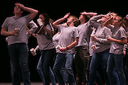Students from Penn Yan High School perform a medley from How to Succeed in Business Without Really Trying at the Rochester Broadway Theatre League's Stars of Tomorrow recognition ceremony in Rochester on Thursday, May 5, 2016.
