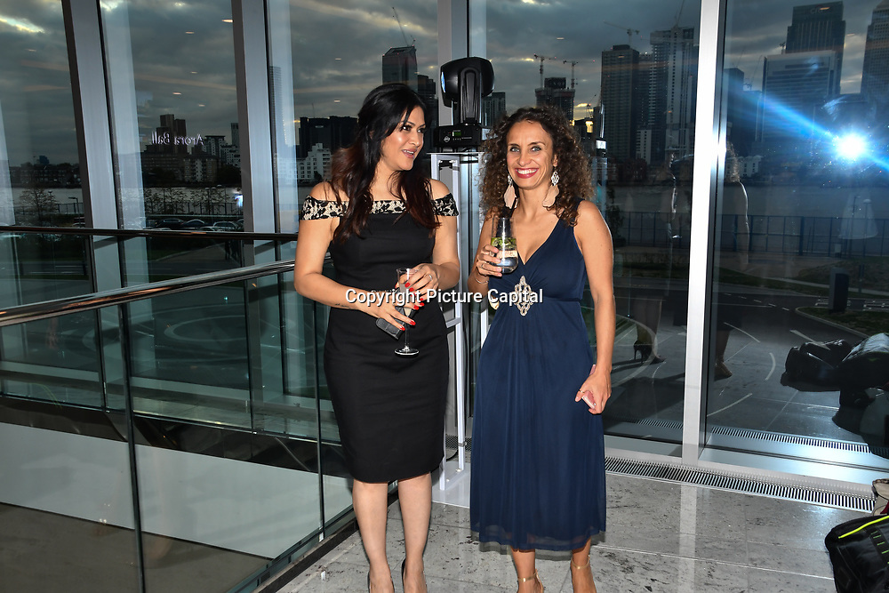 Radio Producer Gabriella Incalza and Sunrise Radio presenter Sonia Dutta attend at Asian Restaurant & Takeaway Awards | ARTA 2018 at InterContinental London - The O2, London, UK. 30 September 2018.
