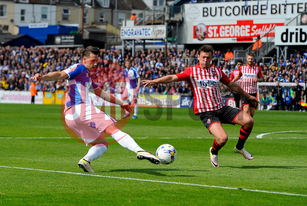 Billy Bodin of Bristol Rovers crosses the ball  - Mandatory by-line: Joe Meredith/JMP - 23/04/2016 - FOOTBALL - Memorial Stadium - Bristol, England - Bristol Rovers v Exeter City - Sky Bet League Two