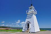 Spencers Island Lighthouse in Greville Bay (Bay of Fundy)<br /> Spencers Island <br /> Nova Scotia<br /> Canada