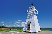 Spencers Island Lighthouse in Greville Bay (Bay of Fundy)<br /> Spencers Island <br /> Nova Scotia<br /> Canada