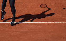 May 29, 2018 - Paris, France - A detailed view of the trainers of Serena Williams of United States during the first round at Roland Garros Grand Slam Tournament - Day 3 on May 29, 2018 in Paris, France. (Credit Image: © Robert Szaniszlo/NurPhoto via ZUMA Press)