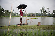 A Bangladeshi man who lives very close to an enclave fishes in a river swollen by rain. This part of Northern Bangladesh is very poor with most relying on fishing and agriculture to survive. Yet this man and his family will have electricity and be able to receive such things as basic health care and fertilizer subsidies. Those living in the enclaves will receive none of this.<br /> <br /> On July 31st 2015 the enclaves that formed one of the world's most complicated borders were officially absorbed in to the countries that surrounded them in a land-mark land swap between India and Bangladesh. The people that lived in them will finally receive citizenship.<br /> <br /> Enclaves are small pockets of sovereign land completely surrounded by another sovereign nation. Approximately 160 enclaves, known as chitmahals, exist on either side of the India-Bangladesh border. For 68 years the 50,000 plus inhabitants of these enclaves have lived a difficult existence, stranded from their home nation and ignored by the country that surrounds them. <br /> <br /> In theory even leaving their enclaves is illegally crossing an international border and for decades it has been very difficult for them to receive even the most basic of rights whether education or health. Even the police have no jurisdiction in the enclaves leaving them essentially lawless.