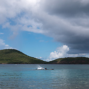 AUGUST 27, 2018--CULEBRA---PUERTO RICO--<br /> Snorkelers in Tamarindo Beach in Culebra where a vibrant coral reef was destroyed by Hurricane Maria in September of 2017.<br /> (Photo by Angel Valentin/Freelance)