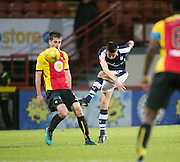 Dundee&rsquo;s Cammy Kerr fires in a shot - Partick Thistle v Dundee in the Ladbrokes Scottish Premiership at Firhill, Glasgow - Photo: David Young, <br /> <br />  - &copy; David Young - www.davidyoungphoto.co.uk - email: davidyoungphoto@gmail.com