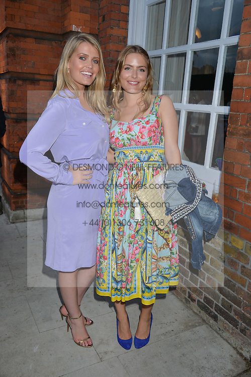 Left to right, LADY KITTY SPENCER and the HON.PHILIPPA CADOGAN at The Ralph Lauren & Vogue Wimbledon Summer Cocktail Party at The Orangery, Kensington Palace, London on 22nd June 2015.  The event is to celebrate ten years of Ralph Lauren as official outfitter to the Championships, Wimbledon.