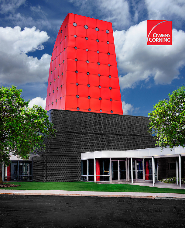 Owens Corning World Headquarters in Toledo, Ohio. Design by Pelli Clarke Pelli, Architects.