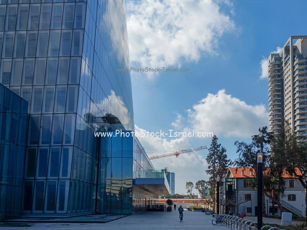 Modern, glass faced High rise buildings in Tel Aviv, Israel