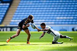 Michael Le Bourgeois of Wasps is tackled by Ben Loader of London Irish - Mandatory by-line: Robbie Stephenson/JMP - 20/10/2019 - RUGBY - Ricoh Arena - Coventry, England - Wasps v London Irish - Gallagher Premiership Rugby