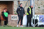 Whitehawk Manager Pablo Asensio during the National League South Play Off 1st Leg match between Whitehawk FC and Ebbsfleet United at the Enclosed Ground, Whitehawk, United Kingdom on 4 May 2016. Photo by Phil Duncan.