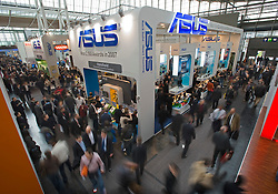 HANNOVER, GERMANY - MARCH-6-2008 - CeBIT is the world's largest computer fair and attracts hundreds of thousands of visitors every year. (Photo © Jock Fistick)