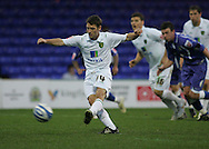 Stockport - Saturday October 31st 2009: Wesley Hoolahan of Norwich City scores a penalty for the second goal against Stockport County during the Coca Cola League One match at Edgeley Park, Stockport. (Pic by Michael SedgwickFocus Images)