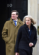 © Licensed to London News Pictures. 05/02/2013. Westminster, UK Attorney General Dominic Grieve (L) seen with Home Secretary Theresa May on Downing Street on 5th February 2013. Photo credit : Stephen Simpson/LNP